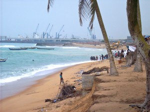The Katanga fishermen's union prepares to beach their pirogues for shelter and cleaning in Togo, West Africa, 2013.